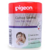 Pigeon Cotton Swabs Thin Stem, 200Pcs/Hinged Case