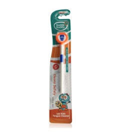 Buddsbuddy Kids Leo Tongue Cleaner 1Pc, Orange