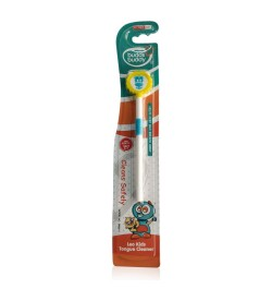 Buy Buddsbuddy Kids Leo Tongue Cleaner 1Pc, Yellow Online in India