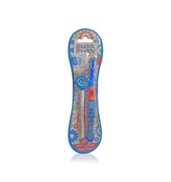 Buy Buddsbuddy Kids Toothbrush + Tongue Cleaner (Blue) Online in India