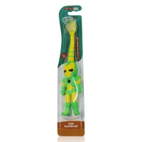 Buddsbuddy Robert Shaped Kids Tooth Brush, Green&Yellow