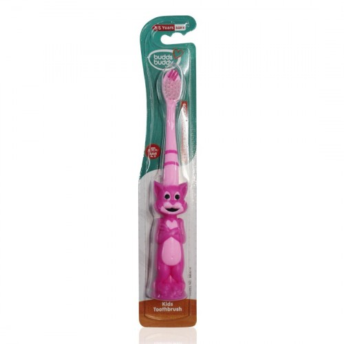 Buddsbuddy Tom shaped Kids Tooth Brush, Pink