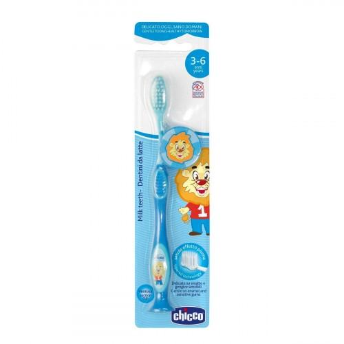 Chicco Milk Teeth Toothbrush 3-6 years (Blue)