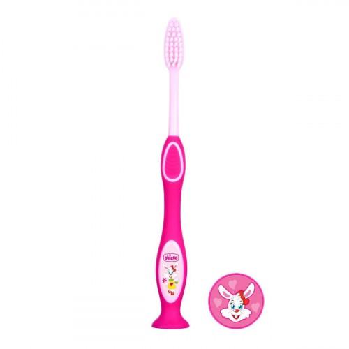 Chicco Milk Teeth Toothbrush 3-6 years (Pink)
