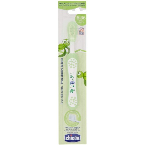 Chicco Milk Teeth Toothbrush (6 m - 3yrs) Green