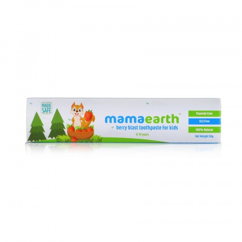 Mamaearth Natural Toothpaste Berry Blast Flavour, 50gm