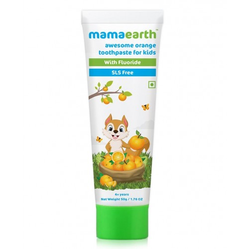 Mamaearth Natural Toothpaste Orange Flavour, 50 gm
