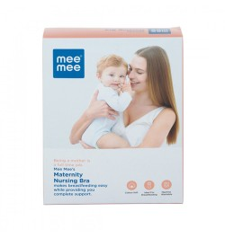 Buy Mee Mee Maternity Feeding Nursing Bra, Skin (Size - 34 D) Online in India