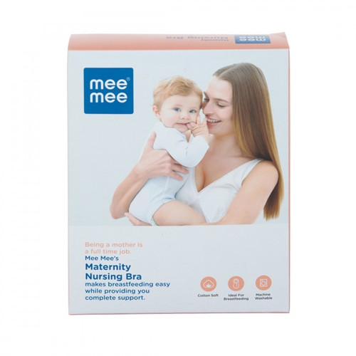 Mee Mee Maternity Feeding Nursing Bra, White (Size - 34 D)