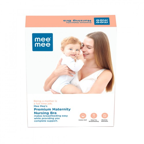 Mee Mee Premium Maternity Feeding Nursing Bra, Skin (Size - 38 D)