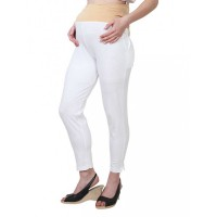 Mee Mee Maternity Pants with Tummy Support Rib & Pockets, Off White (Size - L)