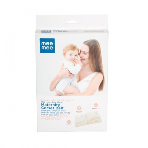 Mee Mee Post Natal Maternity Support Corset Belt, White (Size - L)