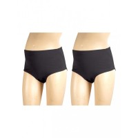 Mee Mee Soft Maternity Support Panty, Black (Size - L) (Pack of 2)