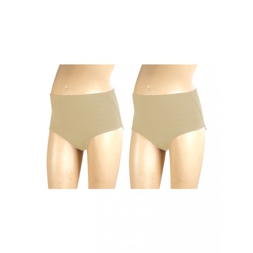 Mee Mee Soft Maternity Support Panty, Skin (Size - L) (Pack of 2)