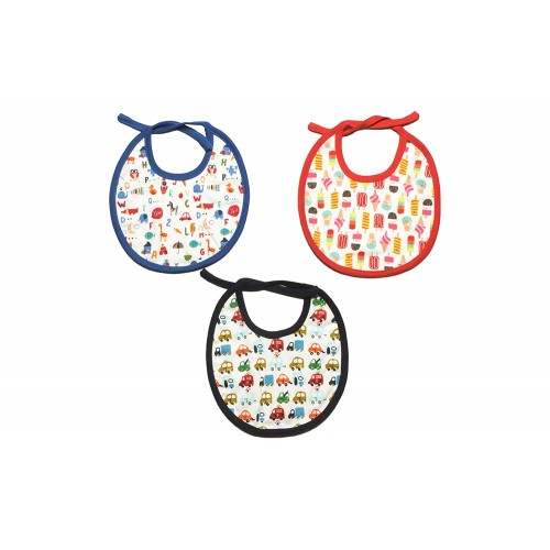 Baby Printed Bibs for Infants (Pack of 3) (Blue Multi)