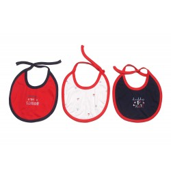 Baby Printed Bibs for Infants (Pack of 3) (RED Multi)