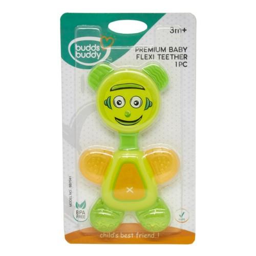 Buddsbuddy Premium Baby Flexi Teether, Green