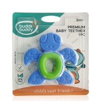 Buddsbuddy Premium Baby Teether 1Pc, Blue