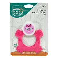 Buddsbuddy Premium Baby Teether, Pink