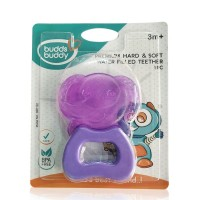 Buddsbuddy	Premium Elephant Shaped Hard & Soft Water Filled Teether 1Pc, Violet