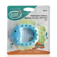 Buddsbuddy	Premium Fish Shaped Water Filled Teether 1Pc, BlueGreen