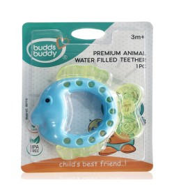 BuddsbuddyPremium Fish Shaped Water Filled Teether 1Pc, BlueGreen