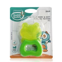Buddsbuddy	Premium Frog Shaped Hard & Soft Water Filled Teether 1Pc, Green
