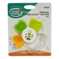 Buddsbuddy	Premium Hard & Soft Teether, Green