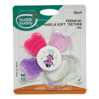 Buddsbuddy	Premium Hard & Soft Teether,Pink