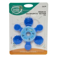 Buddsbuddy Premium Multipurpose Teether, Blue