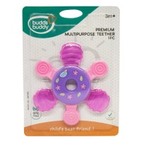 Buddsbuddy Premium Multipurpose Teether, Pink