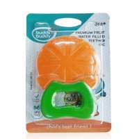 Buddsbuddy Premium Orange Fruit Shaped Water Filled Teether 1Pc