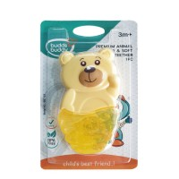 Buddsbuddy Premium Panda Shaped Hard & Soft Water Filled Teether 1Pc, Orange