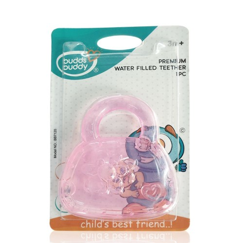 Buddsbuddy Premium Water Filled Teether 1Pc, Pink