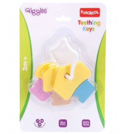 Giggle Teething Keys Rattle-Multicolor