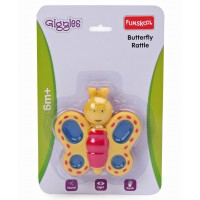 Giggle Toys Butterfly Rattle-Yellow