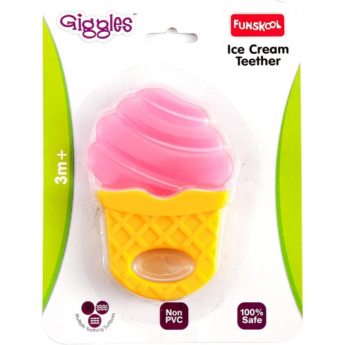 Giggles Ice Cream Teether-Pink
