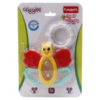 Giggles My Little Butterfly Teether Rattle-Yellow Red
