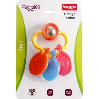 Giggles Orange Teether Rattle