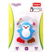 Giggles Penguin Pal Teether Rattle-Blue