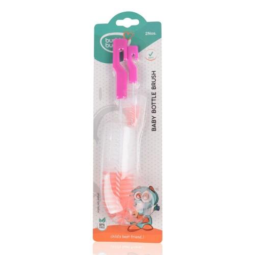 Buddsbuddy Baby Bottle Brush 2 Pcs, Pink