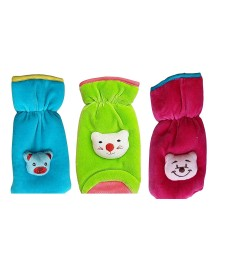Buy Newborn Feeding Bottle Cover 3PC Combo Set (Velvet Multicoloured) (150ML) Online in India