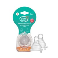 Buddsbuddy Premium Anti Colic Silicone Teat - Size S - 2Pcs