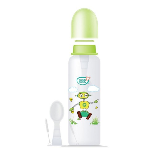 Buddsbuddy Cereal Feeder With Spoon, 250ml, Green,(Age: 6m+)