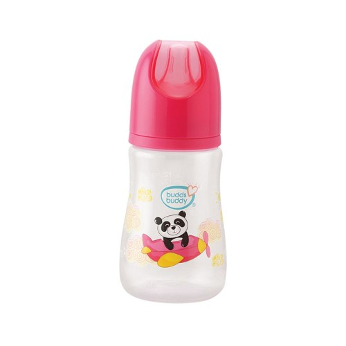 Buddsbuddy Premium Feeding Bottle Standard Neck, 125ml, Pink