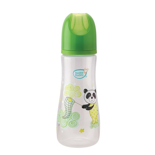 Buddsbuddy Premium Feeding Bottle Standard Neck, 250ml, Green