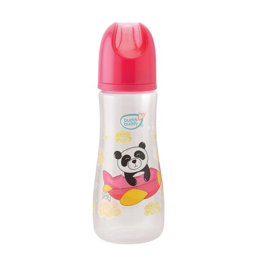Buddsbuddy Premium Feeding Bottle Standard Neck, 250ml, Pink