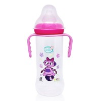 Buddsbuddy Premium Feeding Bottle with Handle, 250ml, Pink