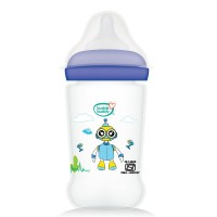 Buddsbuddy Premium Feeding Bottle with Wide Neck, 150ml, Blue