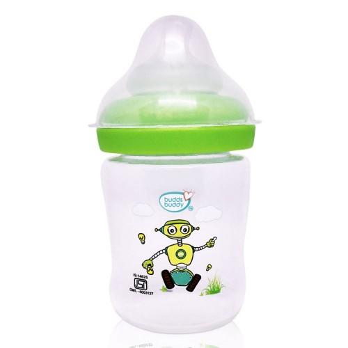 Buddsbuddy Premium Feeding Bottle with Wide Neck, 150ml, Green